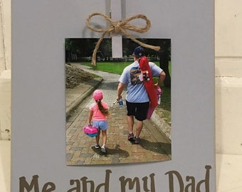 Me and my Dad photo clip board in grey