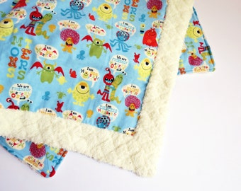 I'm A Monster Baby Quilt