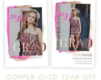 Copper Chic Tear Off Grad Card