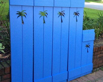 Shutter Exterior Interior ONE Cedar Wood Painted OR Unpainted Beach Cottage Lake Country House Shutter - 48 Inch by CastawaysHall