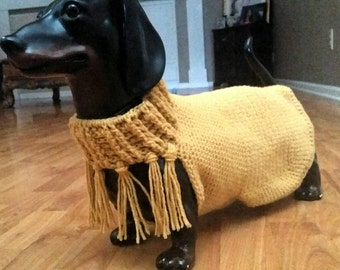 Doxie sweater,  hand made.  Available now