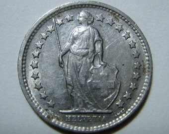 Switzerland, 1969, Silver 1/2 Franken  Coin