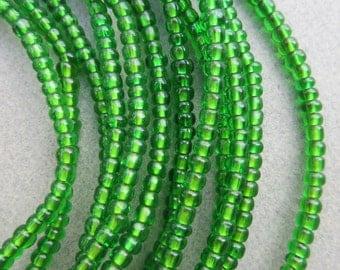 Green Glass Beads -6 Strands