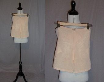 60s Girdle - Peach Panty Girdle - Sears Charmode Wonder Span Elastic - Vintage 1960s - S M