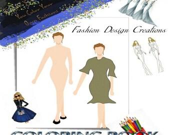 Fashion Design Illustration Adult Coloring Book