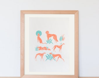 original screen print poster / screen print art / animal print