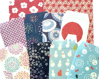 Mini Japanese Envelope set of 10 mini envies