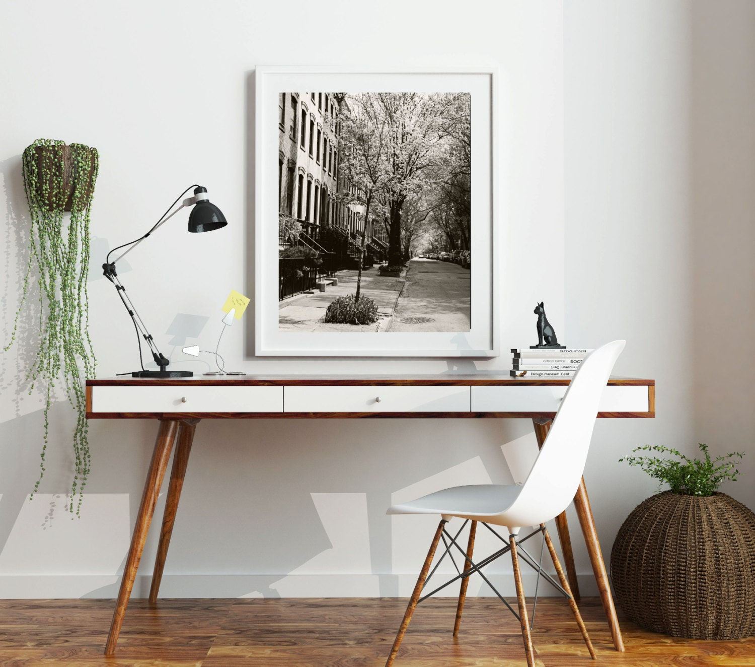 new york city photography black and white west village photograph urban decor streets spring cityscape nyc photo wall art - Urban Decor