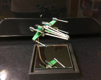 Mini X-Wing Fighter from Recycled Computer Parts version 2.4 Made-To-Order