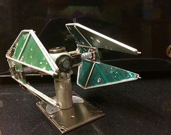 Giant Tie-Interceptor from Recycled Computer Parts, vs 1
