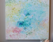 Acrylic painting abstract painting,soft color,pastel color painting on canvas,canvas art,Canvas Wall art - contemporary art