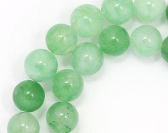 Green Aventurine (Multi-Shade) Beads - 8mm Round