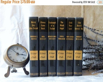 DISCOUNTED Early 40s RARE~First Edition CRIME Club~ Book Set~Of 6~P.F.Collier~Doubleday