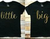 Big/Little black gold tees