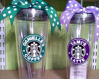 Starbucks etsy for Starbucks personalized tumbler template