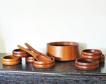 Dansk Designs Denmark Jens Quistgaard Teak Salad Set