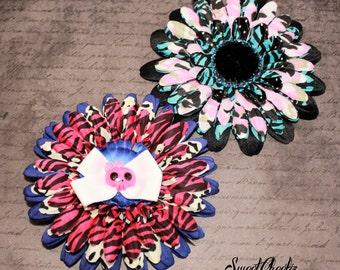 Franken Flower Hair Clip ~ Rockabilly & Pinup Accessory