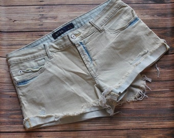Size LARGE only ripped denim shorts
