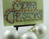 Christmas Card - Candy Cane Merry Christmas - Blank Inside - Monkey Brains - monkeybrains - monkeybrainsdesign