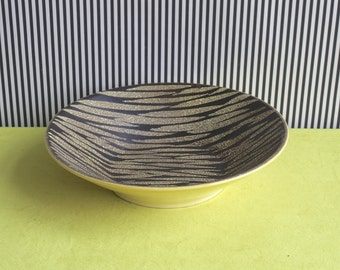 Mid Century Modern West Germany Pottery Plate Made by Carstens Tonnieshof in the 70s.