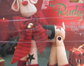 "RUDY REINDEER DOLL Craft Kit by Daisy Kingdom Makes 18"" Reindeer"