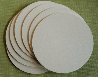 100 BLANK COASTERS  round 3.5 inch Heavy weight 2 mm for decorating, crafting, scrapbooks, wedding coasters, party coasters craft projects
