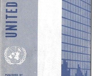 Vintage Mid Century Travel Brochure - United Nations Vistor's Guide - New York City