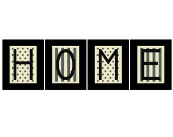 Home Cross Stitch Pattern PDF Instant Download - 5x7 Cross Stitch, X Stitch Pattern, Letters