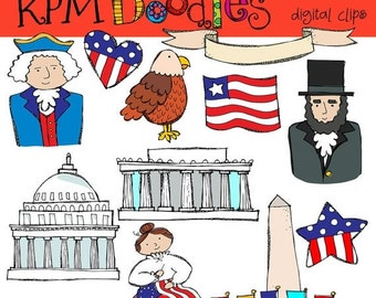 25% OFF KPM Presidents Day Digital Clip Art COMBO