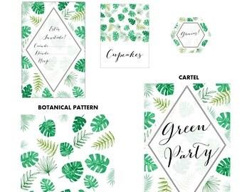 Printable Party: Monstera Plant SPANISH