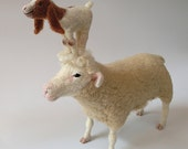 Needle Felted Sheep and Goat