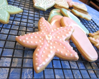 Pink Starfish Cookies