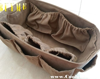 Diaper Bag Organizer Insert For LV Neverfull GM 30x17cm / Made to order / Faux Suede + FREE Pacifier Holder