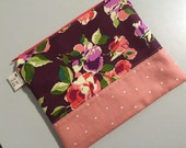 Floral Zippered Pretty Pouch