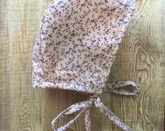 Baby Bonnet, cotton, floral, sun bonnet, spring
