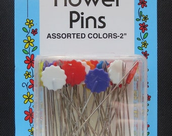 Weekend Sale Only - Collins 50 Flat Flower Pins 2""