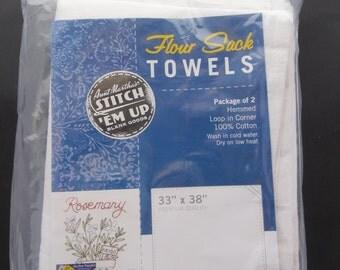 Flour Sack Dish Towel 33x38 2ct PKTT33 Aunt Martha