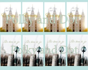 LDS Temple download Mormon with floral texture Temple cards included digital download do you want different words ? I can do that free