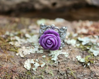 Mediano Purple Rose Ring