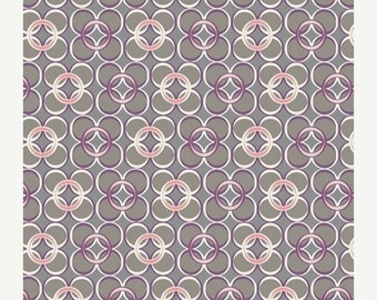 SALE - Coquette - Mod Rings in Slate - Pat Bravo - Art Gallery Fabrics - By the Yard