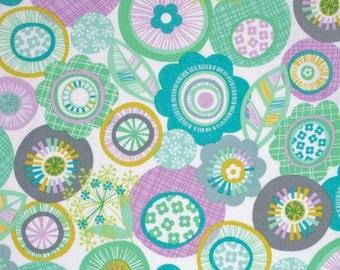 SALE - Pixie in Aqua - LA DEE Da  (pwEm034) - Erin McMorris - Free Spirit Fabric  - By the Yard