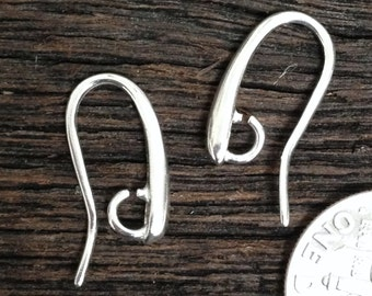 THICK Sterling Silver Earwires - Contemporary - Minimalist -   Heavy Duty - 17 Gauge Ear Wires 1 Pair   E55