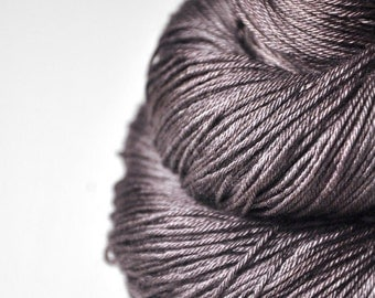 Fading black walnut wood -  Merino/Silk Fingering Yarn Superwash