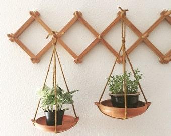 hanging terra cotta planter / flower pot