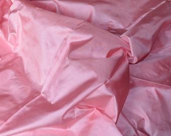 Silk taffeta in Pink- Fat quarter -TF 97
