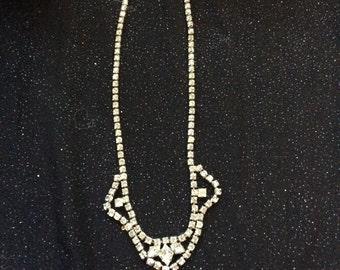 Vintage Sparkle rhinestone necklace