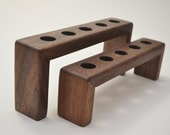 BOTTLE STOPPER DISPLAY Stand Handcrafted in solid Walnut
