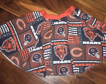 CLEARANCE - Girls 4t / 5t ready to ship Chicago Bears circle skirt (S-2-21)