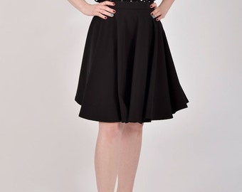 On Sale 25% off Circle skirt, black skirt