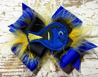 Dory Nemo Hair Bow, Finding Dory Bow, Disney Hairbows, Boutique Hairbow, Finding Dory Shirt, Girl Hair bows, Finding Dory Dress,birthday
